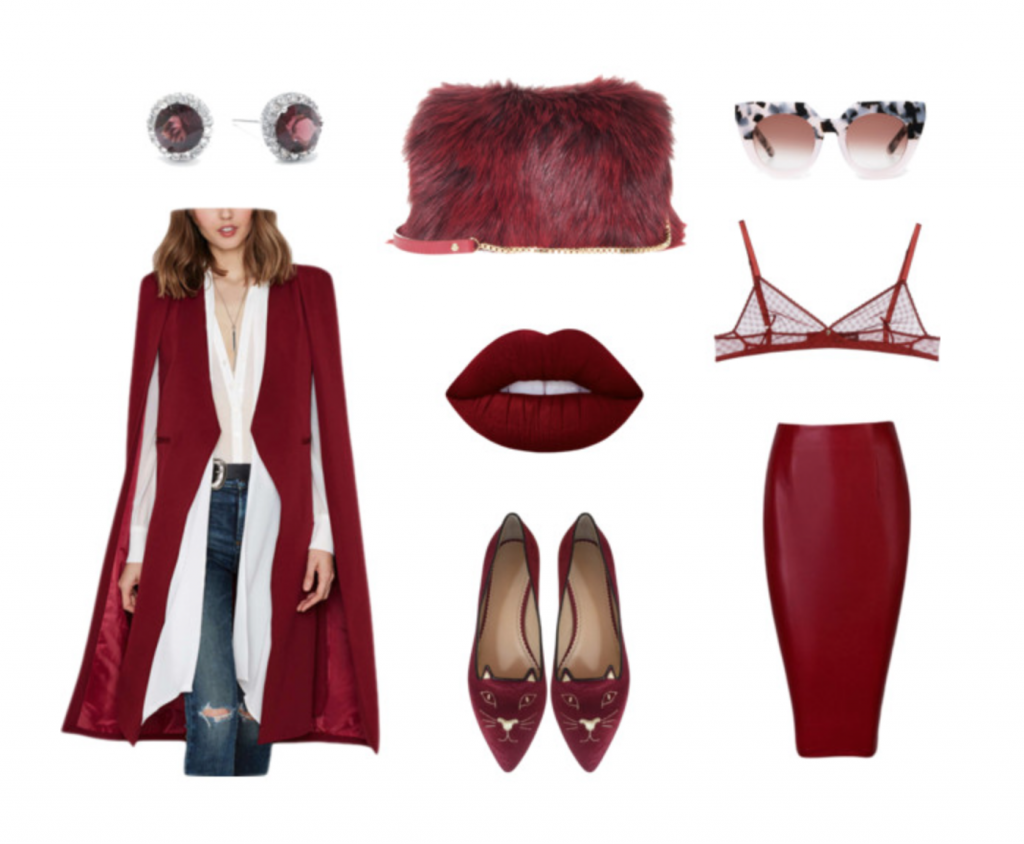 burgundy, wine, italy, travel, moxie, be moxie, fashion, trend, style, lipstick, rome, venice, red, lace, leather, glam,